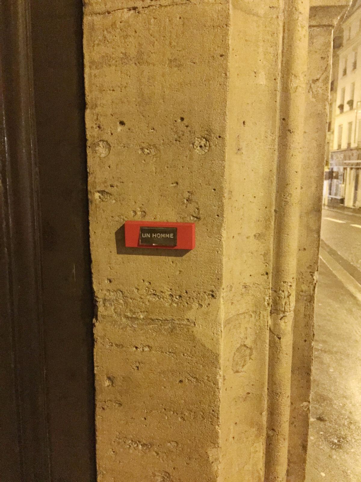 Unhomme- Paris 9ème arrondissement - 2014 - Le Sonneur