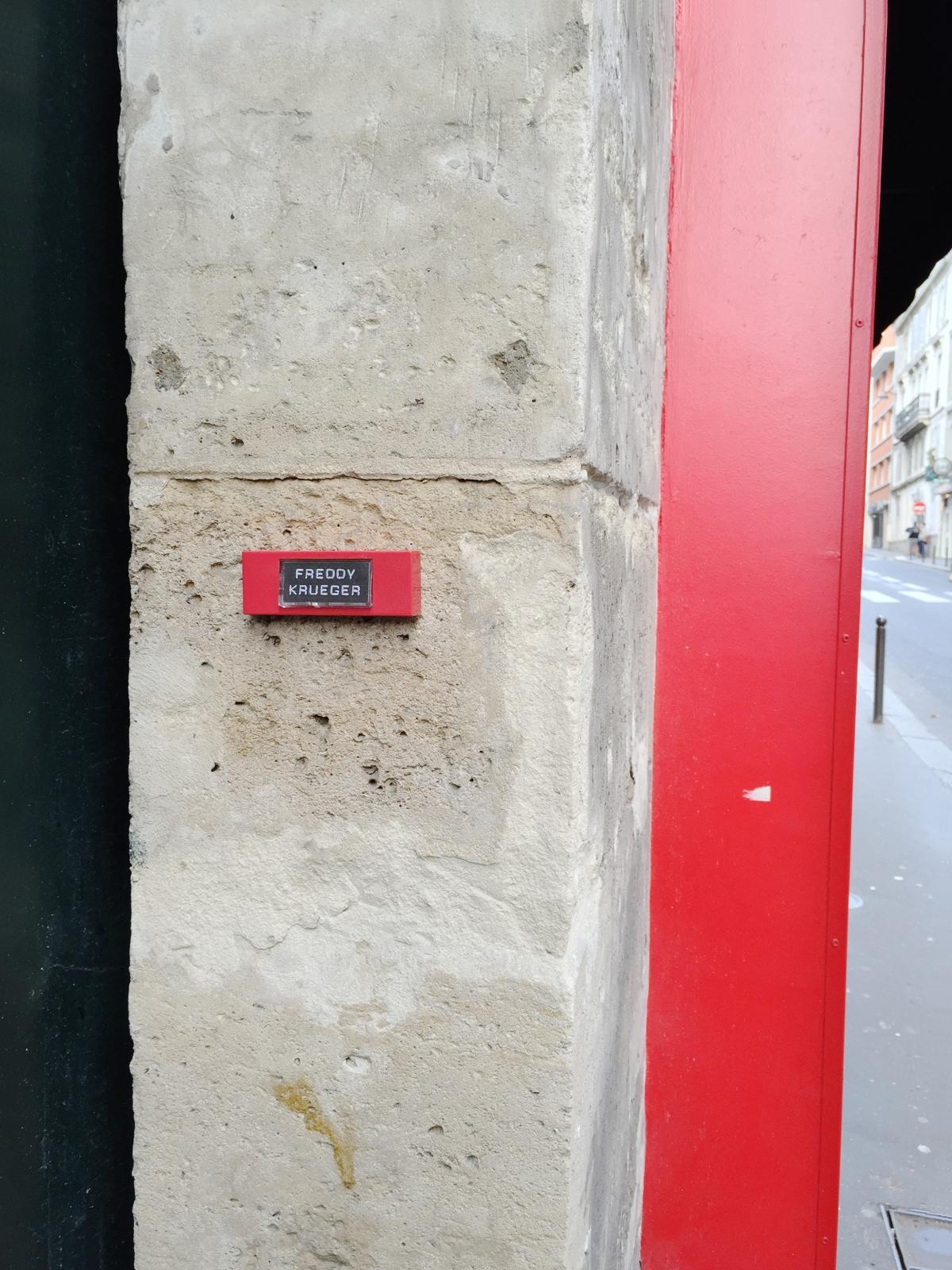"""A Nightmare on Elm Street """"Freddy Krueger""""– Paris 9ème arrondissement – 2014 – Le Sonneur"""