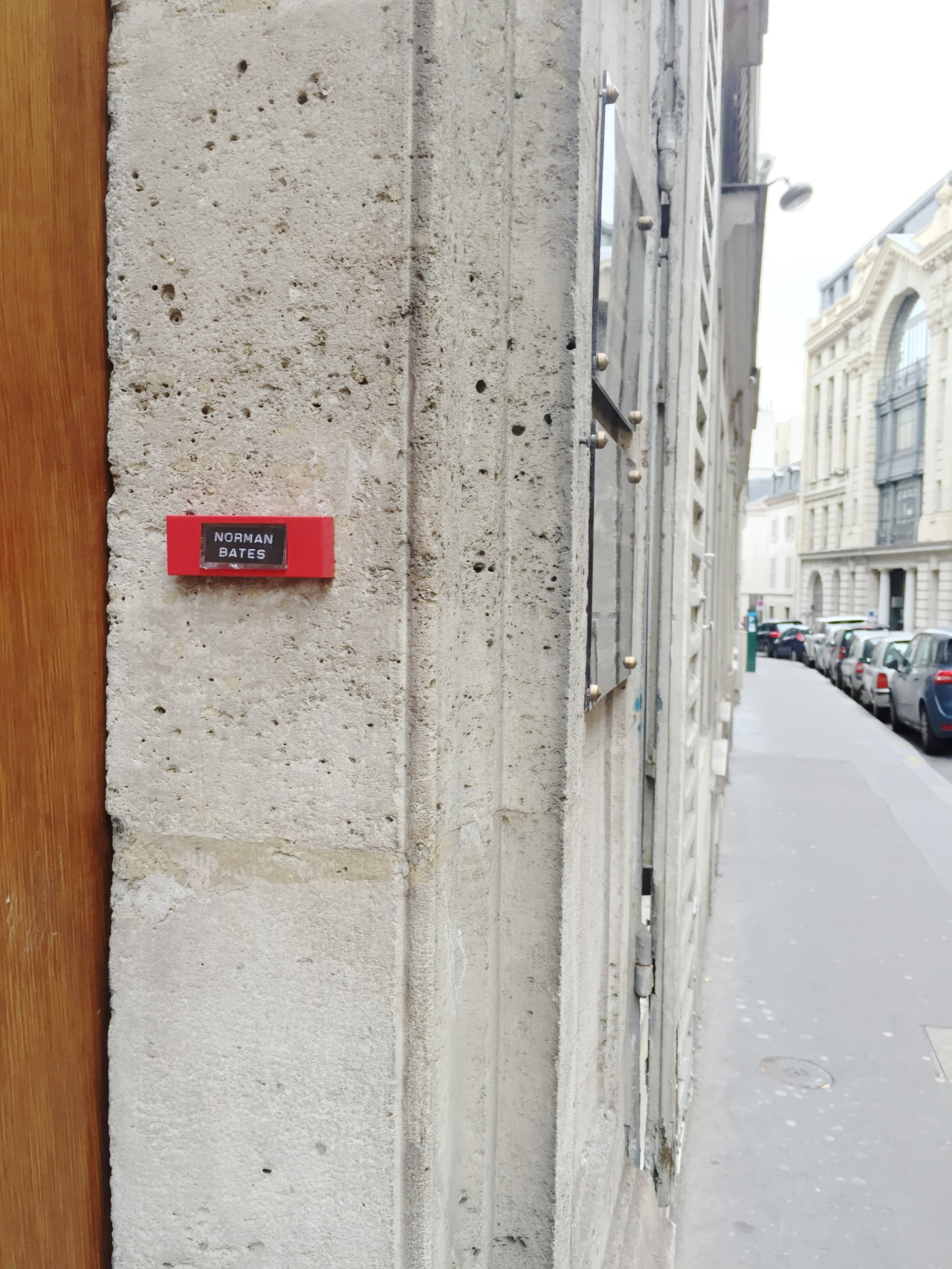 """Psycho""""Norman Bates""""– Paris 9ème arrondissement – 2014 – Le Sonneur"""