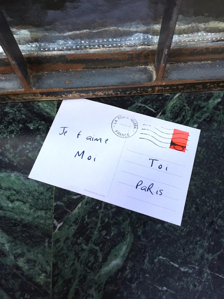 """Love postcards """"Je t'aime"""" - Paris - 2015 - Le Sonneur"""