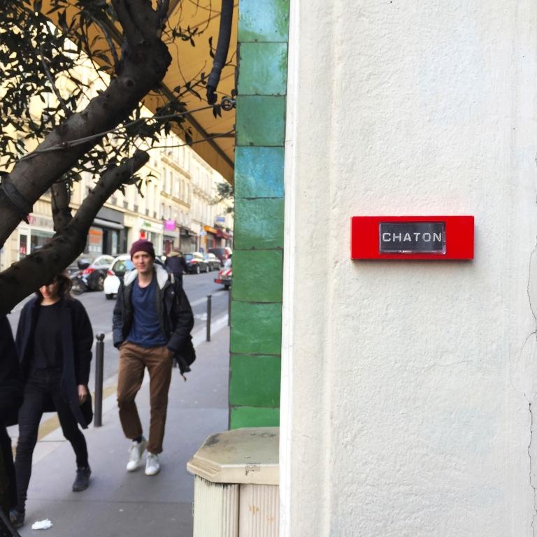 """Meow """"Chaton"""" - Paris 9ème arrondissement - 2015 - Le Sonneur"""