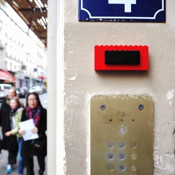 "Lego Bell ""Anonymous"" - Paris 9ème arrondissement – 2015 – Le Sonneur"