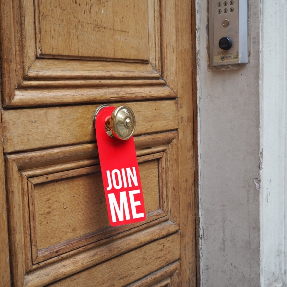 Door hanger « Join me » – Paris – 2016 – Le Sonneur