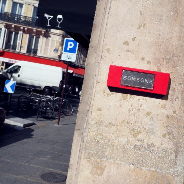 « Someone » – Paris – 2016 – Le Sonneur