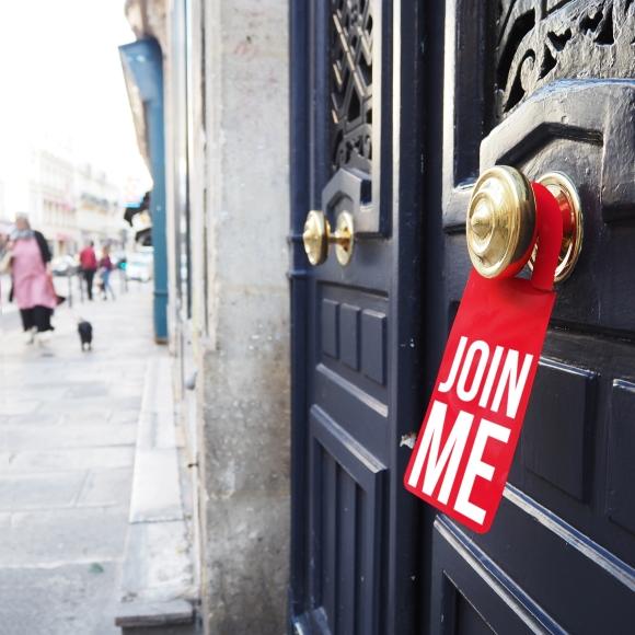 Door hanger « Join me » – Paris – 2017 – Le Sonneur