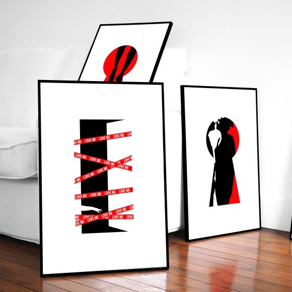 Keyhole and Red Ribbon Prints – Paris – 2017 – Le Sonneur