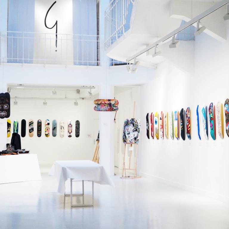 Skateboard Deck - Exhibition #BoardsToBeSolidaire - Agnès B - Artcurial- Paris - 2017