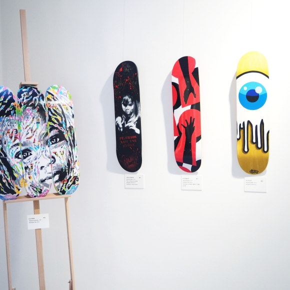 Skateboard Deck - Exhibition #BoardsToBeSolidaire - Agnès B - Artcurial- Paris - 2017