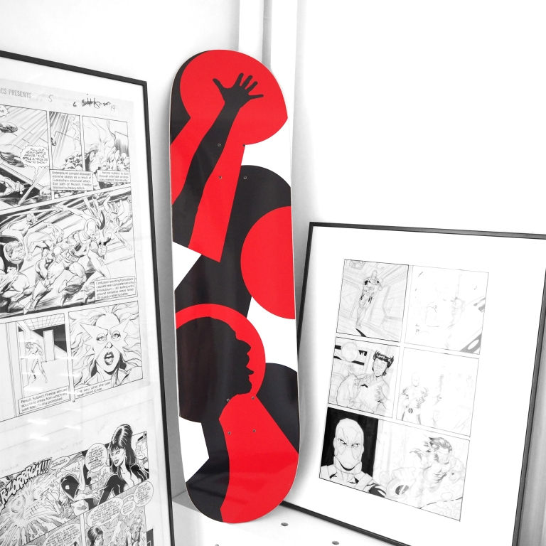 Skateboard deck « Shadow Boards » – Paris – 2017 – Le Sonneur