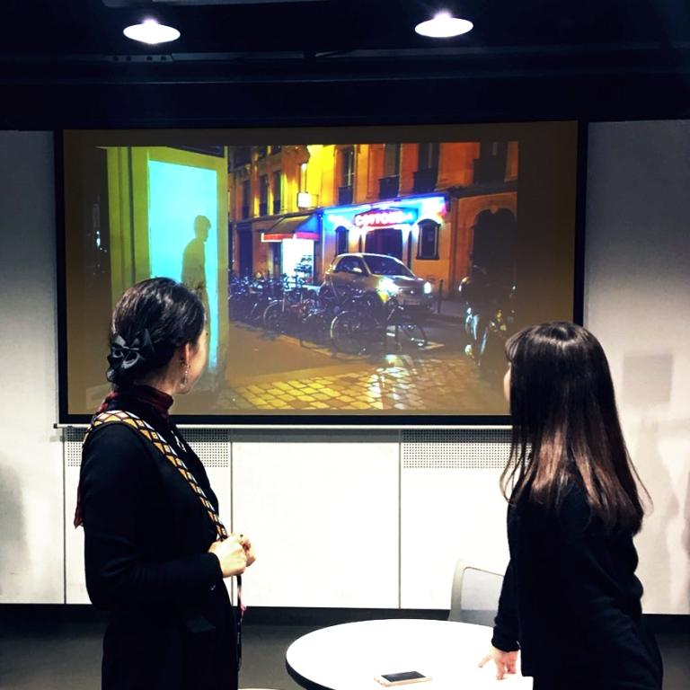 """Fleeting Doors : Le Sonneur"" - Video Exhibition - Ambiance2018 - Tokyo - Shibuya - Japan : Février 2018"