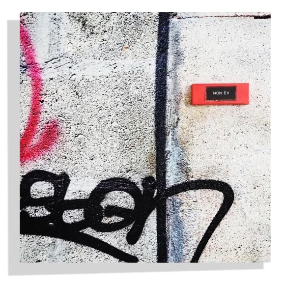 Mon Ex - Bell on original photo print on aluminium 40 x 40 cm - Paris - 2017 - Le Sonneur