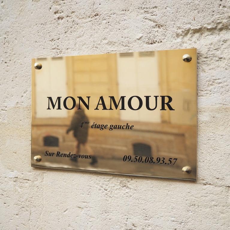Mon Amour (Plaque de lation) - Le Sonneur - Paris - 2018