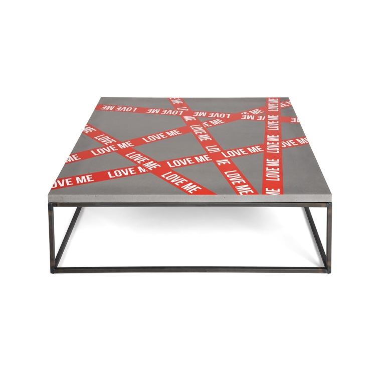 """Love Me"" Table - Fine Art Printed concrete and steel - (CAPSULE) Selection for Lyon Béton - Limited edition of 30 - More here : www.lyon-beton.com"