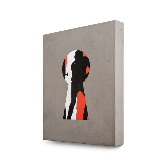 Painting and bells on concrete - Limited edition - Available here : www.frag-art.com