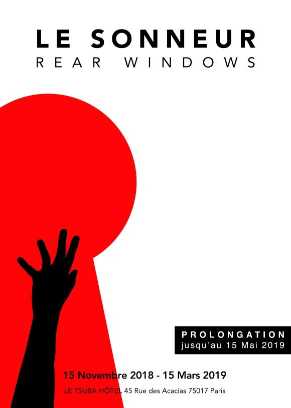 « Rear Windows » Solo Show - 15.11.18 - 15.05.19 - Le Tsuba Hôtel 45 Rue des Acacias - Paris - 2018 - Le Sonneur