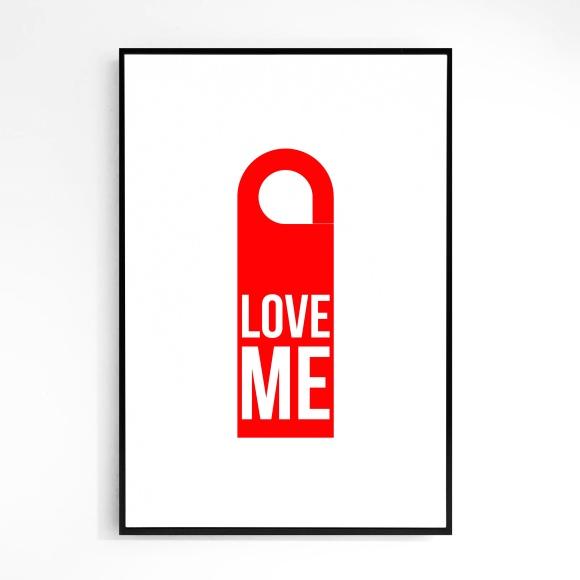 """""""Love Me"""" Door Hanger Print - Le Sonneur - 2017"""