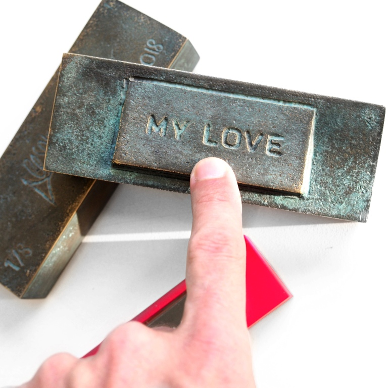 """My Love"" Bronze Doorbell - Le Sonneur - 2019"