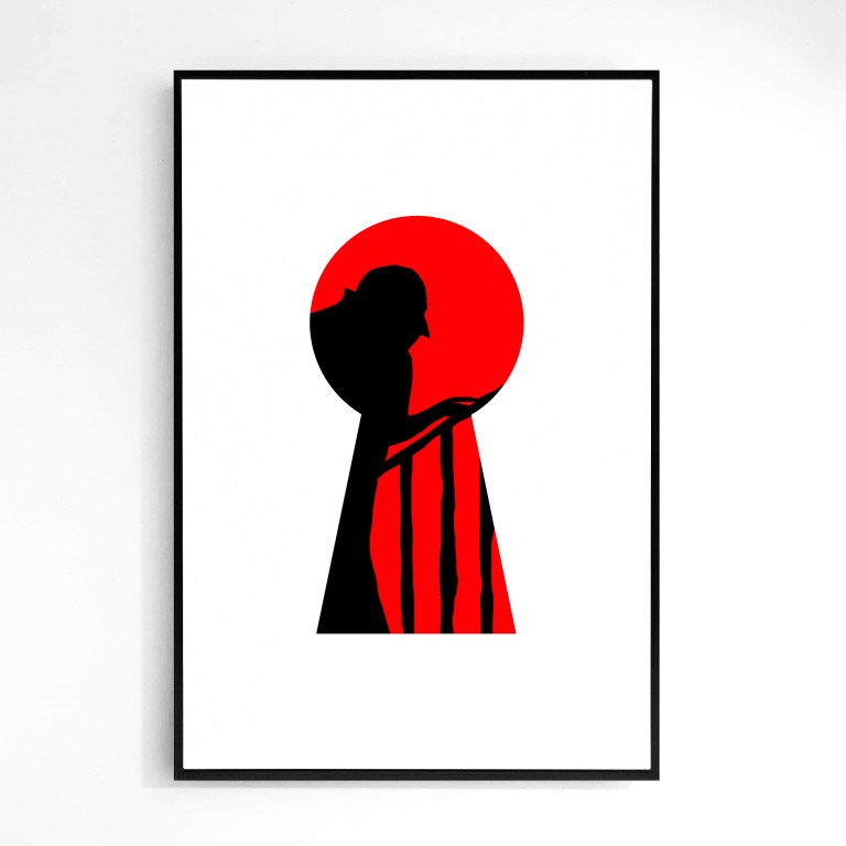 """""""Vampire"""" Keyhole - Signed Limited Edition Print (1-20) - Le Sonneur - 2019"""