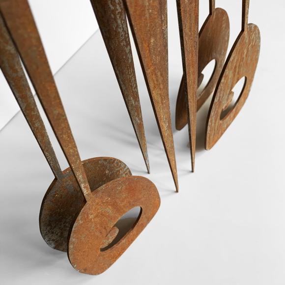 Le Bagagiste - Rusted Steel Sculpture - The Hotel - Le Sonneur - 2020