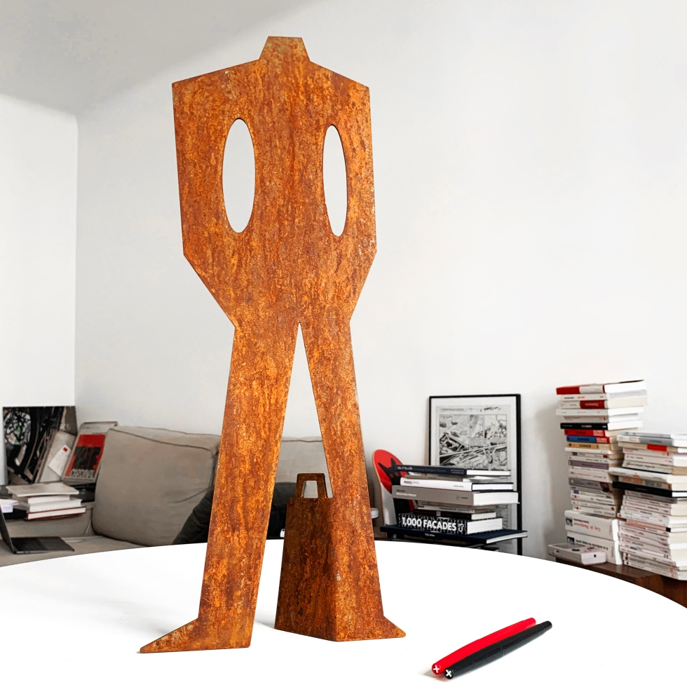 Le Substitut – Steel Sculpture – The Hotel – Le Sonneur – 2020