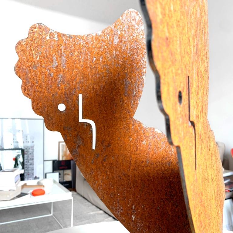 Le Fantôme – Steel Sculpture – Le Sonneur – 2020